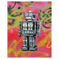 Masterpiece Art Gallery Robot 22-Inch x 28-Inch Canvas Wall Art