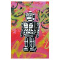 Masterpiece Art Gallery Robot 24-Inch x 36-Inch Canvas Wall Art