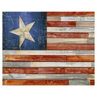 Masterpiece Art Gallery Wooden Flag 22-Inch x 28-Inch Canvas Wall Art