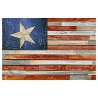 Masterpiece Art Gallery Wooden Flag 24-Inch x 36-Inch Canvas Wall Art
