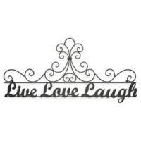 "35-Inch x 15.75-Inch ""Live Love Laugh"" Iron Wall Art"
