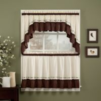 Jayden 24-Inch Window Curtain Tier Pair in Chocolate