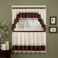 Jayden 24-Inch Window Curtain Tier Pair in Chocolate