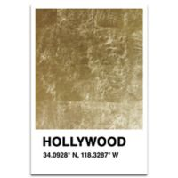 13-Inch x 19-Inch Hollywood Color Swatch Print Wall Art in Gold