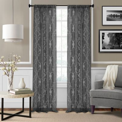 Curtains Ideas black sheer curtain : Buy Sheer Window Panels from Bed Bath & Beyond