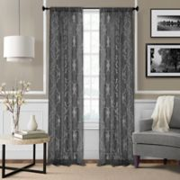 Montego 84-Inch Window Curtain Panel - Black