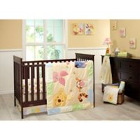 Disney® Peeking Pooh 7-Piece Crib Bedding Set in Yellow