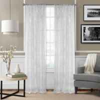 Montego 84-Inch Window Curtain Panel - White