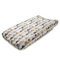 Liz and Roo Fox Den Changing Pad Cover in Blue