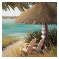 Masterpiece Art Gallery Waterfront View 35-Inch Square Wrapped Canvas Wall Art