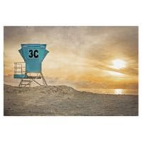 Masterpiece Art Gallery Lifeguard Station 24-Inch x 36-Inch Wrapped Canvas Wall Art