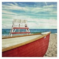 Lifeguard Off Duty 20-Inch Square Canvas Wall Art