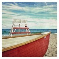 Lifeguard Off Duty 24-Inch Square Canvas Wall Art