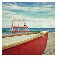 Lifeguard Off Duty 30-Inch Square Canvas Wall Art