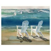 "Masterpiece Art Gallery Lynnea Washburn Adirondacks 22"" x 28"" Canvas Wall Art"