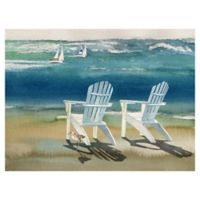 "Masterpiece Art Gallery Lynnea Washburn Adirondacks 30"" x 40"" Canvas Wall Art"