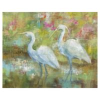 Egret Tapestry 16-Inch x 20-Inch Canvas Wall Art