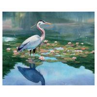 "Masterpiece Art Gallery Lynnea Washburn Lakeside Heron I 16"" x 20"" Wall Art"