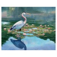 "Masterpiece Art Gallery Lynnea Washburn Lakeside Heron I 22"" x 28"" Wall Art"