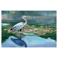 "Masterpiece Art Gallery Lynnea Washburn Lakeside Heron I 24"" x 36"" Wall Art"