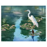 "Masterpiece Art Gallery Lynnea Washburn Lakeside Heron II 22"" x 28"" Wall Art"