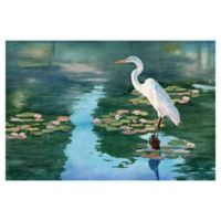 "Masterpiece Art Gallery Lynnea Washburn Lakeside Heron II 24"" x 36"" Wall Art"