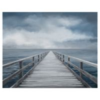 Masterpiece Art Gallery Light Blue Horizon 22-Inch x 28-Inch Canvas Wall Art