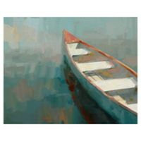 Materpiece Art Gallery Coral Canoe-I 22-Inch x 28-Inch Canvas Wall Art