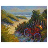 "Masterpiece Art Gallery Kathleen Denis Beach Bicycle 22"" x 28"" Canvas Wall Art"