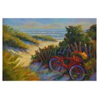 "Masterpiece Art Gallery Kathleen Denis Beach Bicycle 24"" x 36"" Canvas Wall Art"