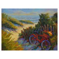 "Masterpiece Art Gallery Kathleen Denis Beach Bicycle 30"" x 40"" Canvas Wall Art"