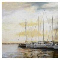 Masterpiece Art Gallery Sunset Harbor 30-Inch x 30-Inch Canvas Wall Art