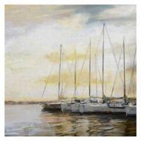 Masterpiece Art Gallery Sunset Harbor Canvas 35-Inch x 35-Inch Wall Art