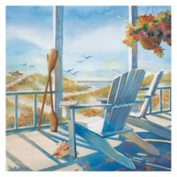 Masterpiece Art Galler Kathleen Denis Tropical Cottage 35-Inch x 35-Inch Canvas Wall Art