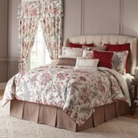 Rose Tree Izabelle Reversible King Comforter Set in Wine