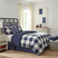 Southern Tide® Alcott Pass Reversible Twin Comforter Set in Navy/Cream