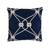 Southern Tide® Royal Pine Rope Knot Throw Pillow in Navy