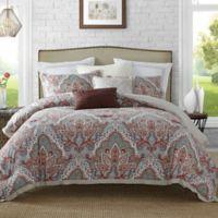 Ellen Tracy Upton Park Full Comforter Set in Spice