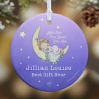 Precious Moments® Baby Glossy Christmas Ornament in Blue/Purple