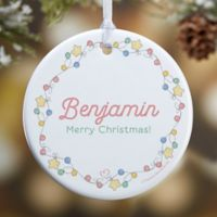 Precious Moments® Festive Lights Glossy Christmas Ornament in White