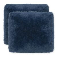Dolce Home Alexus Shag Square Throw Pillow (Set of 2)