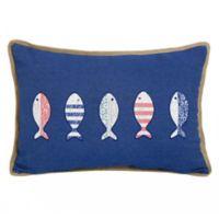 Oblong Throw Pillow in Blue Depths