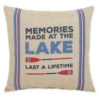 Lifetime Memories Square Throw Pillow in Natural