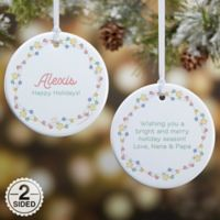Precious Moments® 2-Sided Festive Lights Glossy Christmas Ornament in White