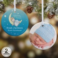 Precious Moments® 2-Sided Baby Glossy Christmas Ornament in Blue/Purple