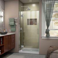DreamLine Unidoor-X 35-Inch Frameless Hinged Shower Door in Chrome