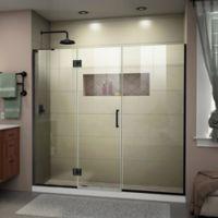 DreamLine Unidoor-X 72-72.5-Inch Frameless Hinged Shower Door in Satin Black
