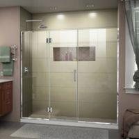 DreamLine Unidoor-X 72-72.5-Inch Frameless Hinged Shower Door in Chrome