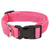 Large Aero Mesh Adjustable Dog Collar In Pink