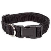 Large Aero Mesh Adjustable Dog Collar in Black